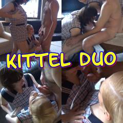 Meine Freundin und Ich als Kittelduo. Machen einen User beim Videodreh heiss. Ficken durfte er uns nicht. Aber auch so kommt er zum Abspritzen. Und alles über unsere Kittel.