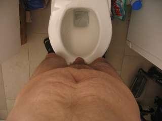auf dem wc und unter der dusche