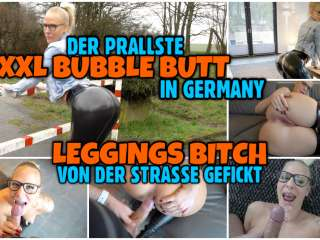 Der prallste XXL BUBBLE BUTT | LEGGINGS Bitch doggy gefickt