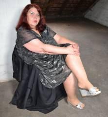 Silberne High-Heel Pantoletten 2