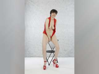 Red Heels on Chair