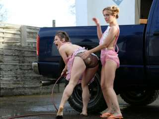 cute carwash girls