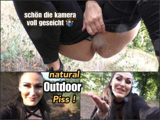natural Outdoor Piss - Kamera vollgeseicht!