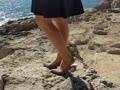 Beine am Meer