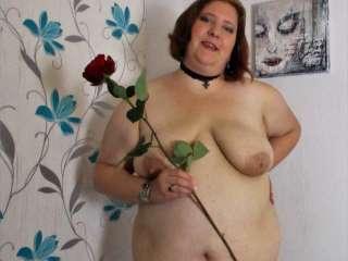 Posieren mit Rose