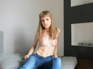Touching myself on the couch